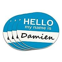 ダミエンこんにちは、私の名前はコースターセット