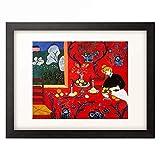 アンリ・マティス Henri Matisse 「赤い部屋(赤のハーモニー)」 額装アート作品