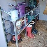 屋外 物置 屋外物置・収納庫・バイクガレージ メタルシェッドオプション棚 2段ワークベンチ
