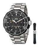 Orisメンズ76176827154rs moonpointer Analog Display Swiss Automatic Black Watch