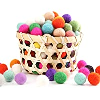 Mamimami Home クリスマスデコレーション ウールフェルトボール 20MM 手作り 生態や自然羊毛 フェルトボール 装飾ビーズ 150個/混合色 (13色以上)