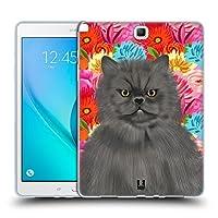 Head Case Designs ペルジャン・キャット ペット&フローラル Samsung Galaxy Tab A 9.7 専用ソフトジェルケース