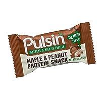 ?カエデとピーナッツタンパク質スナック50グラム (Pulsin) (x 2) - Pulsin' Maple and Peanut Protein Snack 50g (Pack of 2)