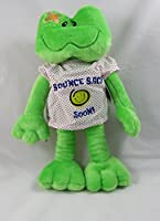 """15"""" Adorable Plush BOUNCE BACK SOON Frog with病院ガウン/ Cheer Upギフト/ Hope you feel better手術後/ギフト/ Injury / HOSPITALIZATION / Brighten SOMEONEの日。Sickness / Illness 810203"""