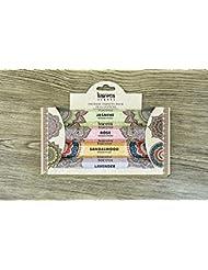 Premium Incense Sticks Sandalwood, Jasmine, Rose and Lavender Variety 56 Sticks Gift Pack