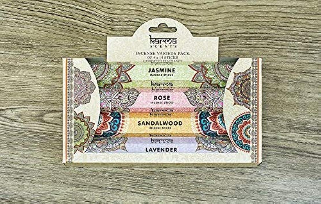 浜辺信号モールス信号Premium Incense Sticks Sandalwood, Jasmine, Rose and Lavender Variety 56 Sticks Gift Pack