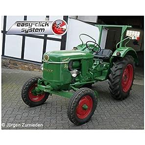 ドイツレベル 1/24 Deutz D30 トラクター 色分け済みプラモデル 07821