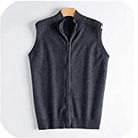 Surprise S Zipper Vest Man Pure Cashmere Knitted Jumpers Sweaters Cardigans Men Jackets