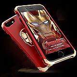 アイアンマン数量限定iphone6 iphone6S 合金ケース アルミ金属 PC耐衝撃 超人気iphoneネジ止め薄型組み立てアイフォンカバー (iphone6/6S, アイアンマン赤+金) [並行輸入品]