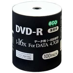 磁気研究所 データ用DVD-R 4.7GB 16倍速 ワイドプリンタブル対応 100枚バルクパッケージ DR47JNP100_BULK