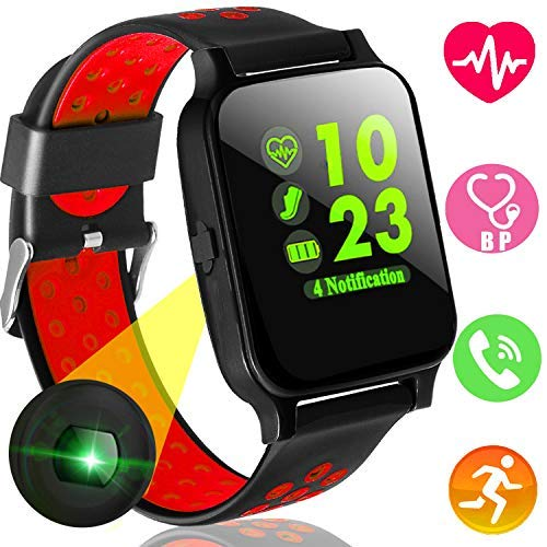 Xenzy Fitness Tracker Smart Watch Phone with Heart Rate Blood Pressure Monitor for Men Women Kids Color Screen Sports Watch Calories Pedometer Tracker Call SMS for Android iPhone (red) [並行輸入品]