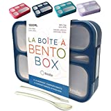 kinsho Bento Lunch-Box Containers for Kids, Boys, Adults   6 Compartment Lunch-Boxes   Leakproof School Bentobox or Meal Plan