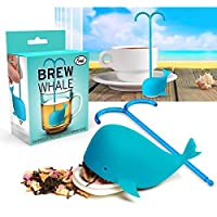 Fred Brew Whale Tea InfuserシリコンLoose Leaf Strainerハーブスパイスフィルタ
