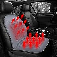 YULPING 12ボルト車のフロントシート加熱クッション冬暖かいカバープロテクター電気加熱パッド 車のアクセサリ (Color : Black)