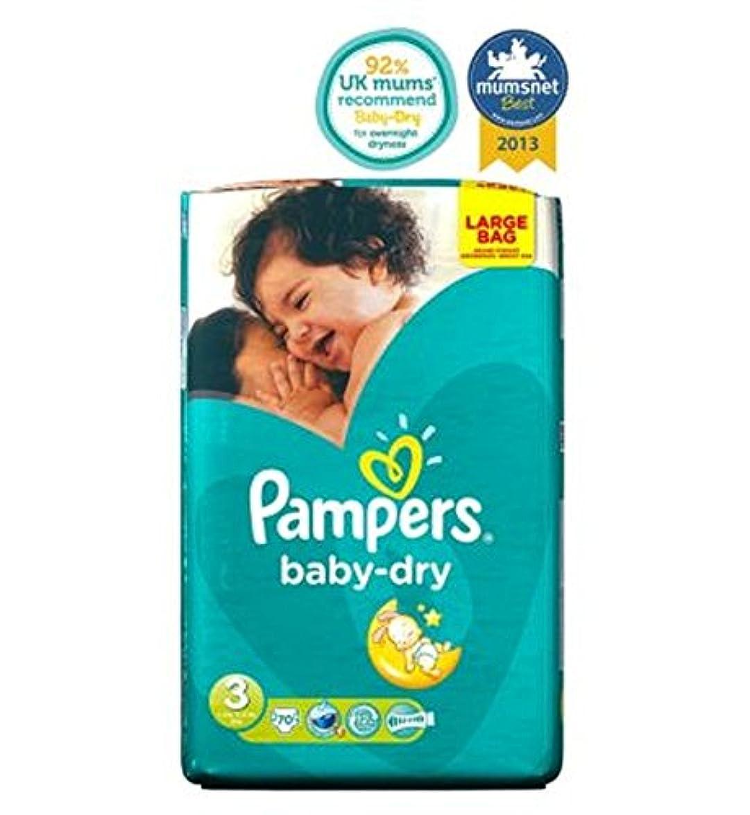 バットトーナメント出くわすPampers Baby-Dry Nappies Size 3 Large Ba70 Nappies - パンパースベビードライおむつサイズ3大Ba70おむつ (Pampers) [並行輸入品]