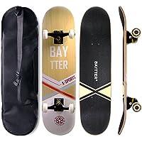 BAYTTER スケボー コンプリート 31インチ スケートボード ABEC11ベアリング採用 メンテナンスレンチとスケボー用バッグ付