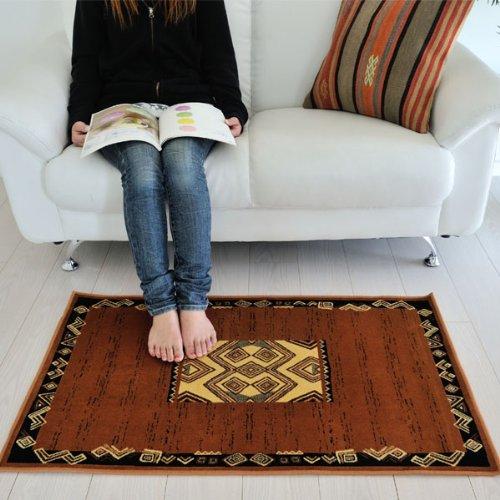 なかね家具 ベルギー製 玄関マット 荘厳なアフリカの大地 デザインマット ブラウン 60×100 msi8 012masa