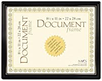 MCS Contour Document Frame in Black and Gold by MCS
