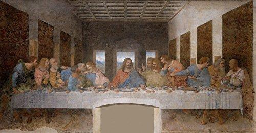 絵画風 壁紙ポスター (はがせるシール式) 最後の晩餐 イエス・キリスト レオナルド・ダ・ヴィンチ キャラクロ SGB-001S2 (603mm×314mm) 建築用壁紙+耐候性塗料