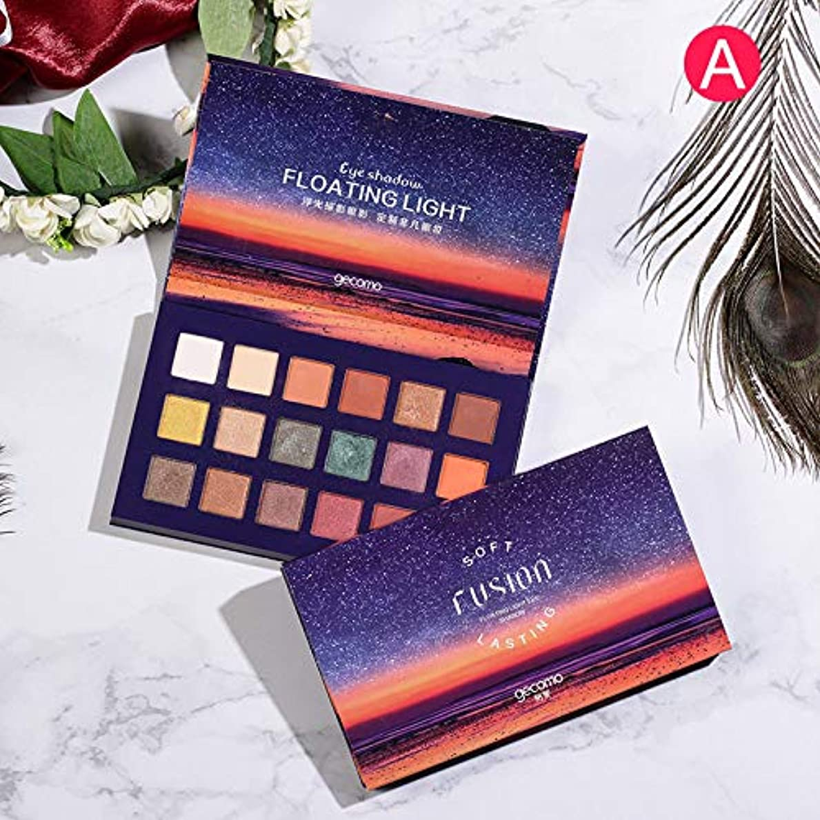 Symboat アイシャドウパレット 18色無光沢ロングラスティング フローティングライト 鮮やかな発色 化粧品 ナチュラル 自然立体 多色 化粧美容人気 完全な色調 (A)
