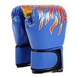 BeeYond ボクシング グローブ 本格 プロ 仕様 カラー 全4色 BOX-B4 (青)
