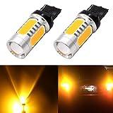 DunGu T20 LED シングル電球 アンバー ウィンカ-信号 COB爆光 無極性 バックランプ テールランプ ストップランプ コナーニング イエロー 2個1セット