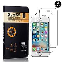 【2枚セット】 iPhone SE / 5 5S 超薄 フィルム CUNUS Apple iPhone SE / 5 5S 専用設計 強化ガラスフィルム 高透明度で 気泡防止 飛散防止 硬度9H 耐衝撃 液晶保護フィルム
