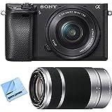 Sony ilce-6300a63004KミラーレスカメラW / 16–50mm + 55–210mmズームレンズバンドルIncludesカメラ、16–50mm電源ズームレンズ、55–210mmズームレンズとビーチカメラマイクロファイバー布