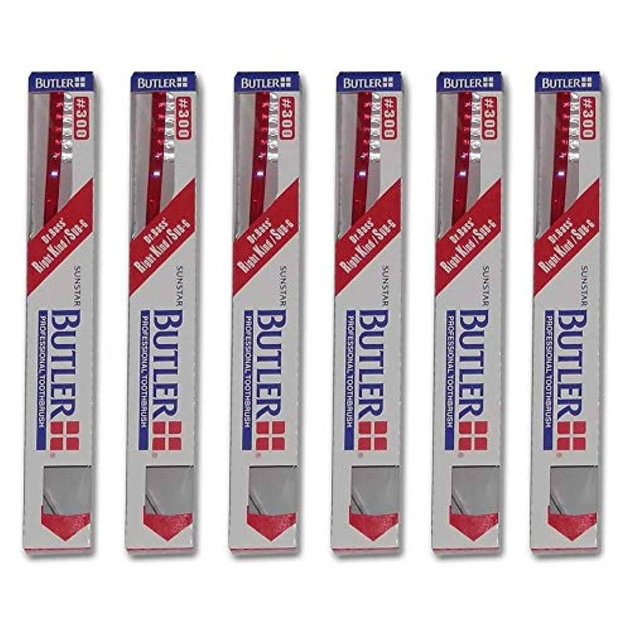 全体列挙するの頭の上バトラー 歯ブラシ 6本 #300