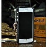 機械手TRIGGER for iphone6・iphone6 plus アイホン6・アイホン6 プラス バンパーアルミケース ストラップ付き   耐衝撃 人気 合金金属 (iphone6 4.7インチ, シルバー)