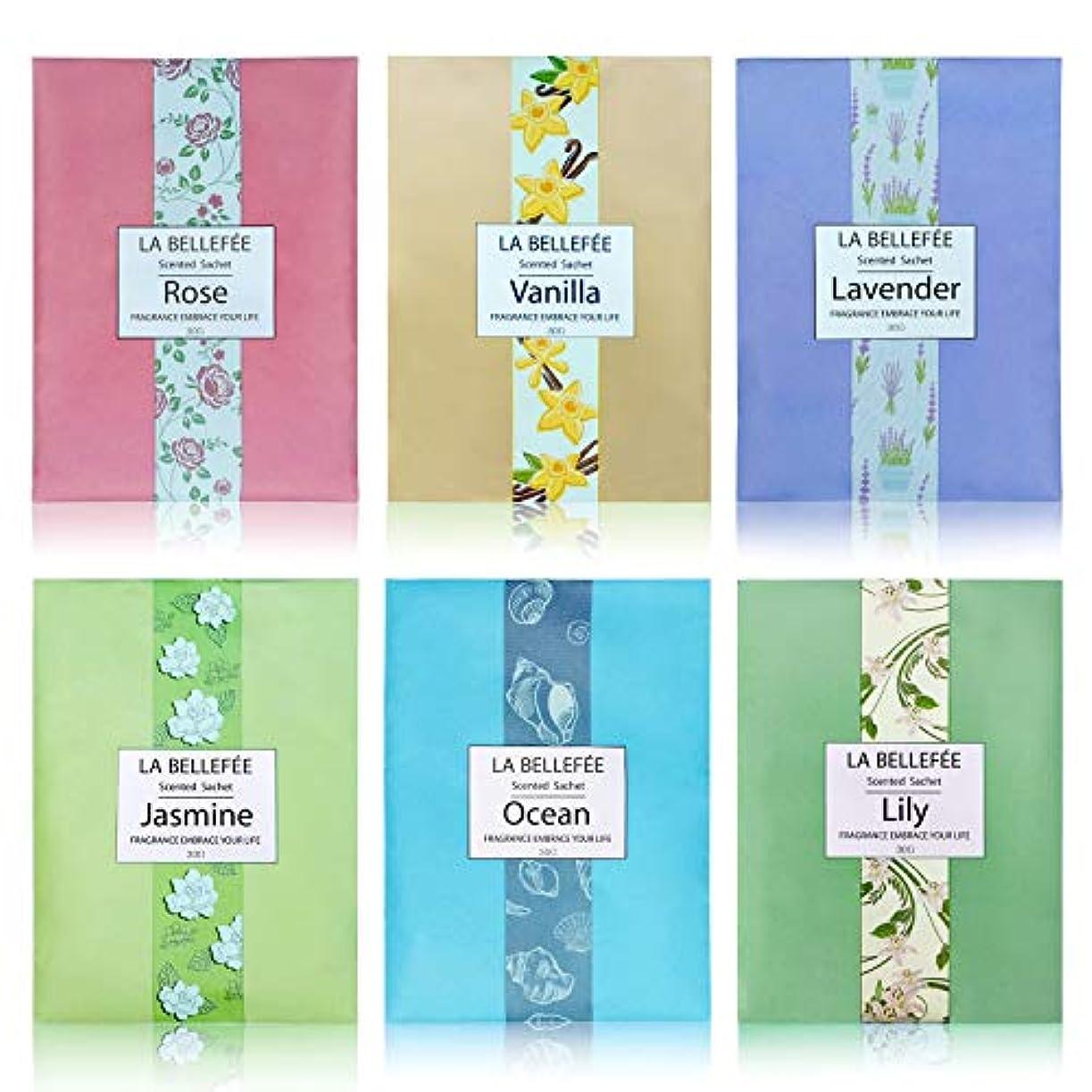 アナニバー海里物理的なLA BELLEFÉE 香り袋 サシェ フレンチマカロン 匂い袋 アロマ袋 香りサシェ 着物用 芳香剤 におい良い 花の香り 車内用 玄関用 部屋用 アロマブクロ 6種類の香り