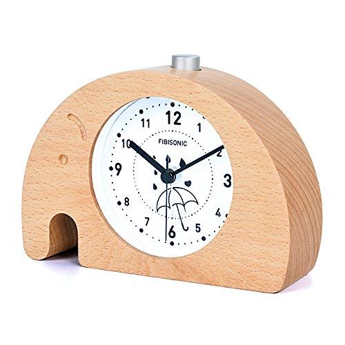 目覚まし時計 大音量 FIBISONIC 置き時計 おしゃれ 連続秒針 音無し アラーム スヌーズ ...
