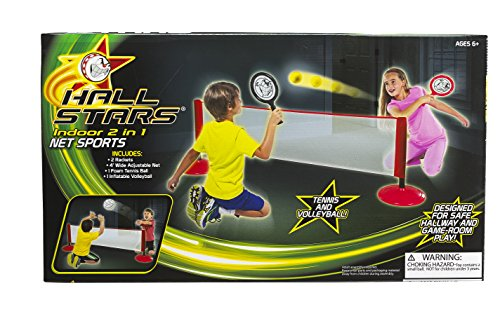Hall Stars Volleyball and Tennis 2-in-1 Net Sports Play Set by Little Kids