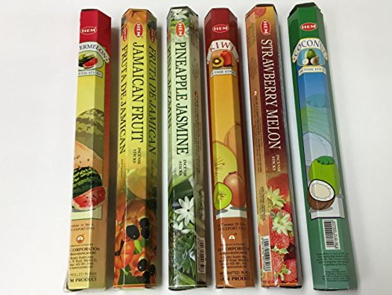 休戦湿気の多い主要なHem トロピカルフルーツ お香セット 6x20=120本 バラエティギフトパック