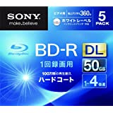 SONY ビデオ用BD-R 追記型 片面2層50GB 4倍速 ホワイトプリンタブル 5枚パック 5BNR2VGPS4