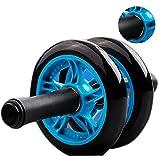 Soomloom アブホイール エクササイズウィル スリムトレーナー 超静音ペアリングデザイン  腹筋ローラー エクササイズローラー 膝を保護するマット付き
