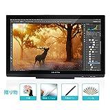 HUION IPS 液晶ペンタブレット GT-220 V2 フルHD 大画面 21.5インチ 液タブ (ブラック)