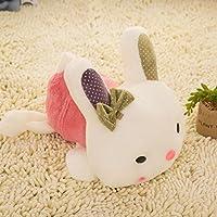 HuaQingPiJu-JP 30cmぬいぐるみうさぎソフトおもちゃソフトぬいぐるみうさぎの贈り物(ピンク)