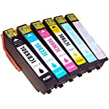 【ノーブランド品】エプソン(EPSON) IC80L(IC6CL80L)互換インク(増量タイプ)6色セット 対応機種 EP-707A EP-777A EP-807AB EP-807AR EP-807AW EP-907F EP-977A3