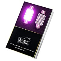 ぶーぶーマテリアル 明るく見やすいルームランプ T10 37mm LED ピンク 2個 12V 極性フリー