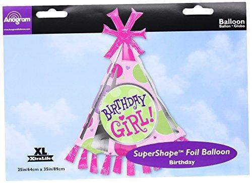 Birthday Girl Party Hat Super Shape Anagram Balloons by UB FUN [並行輸入品]