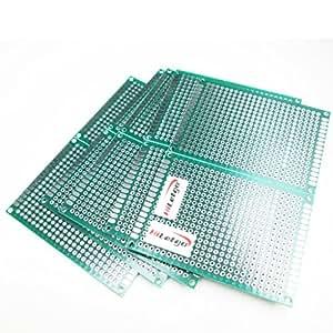 HiLetgo 10PCS 5*7CM FR-4 ユニバーサル ブレッドボード プロトタイプ PCB ダブルサイド Tinned 1.6mm Thick [並行輸入品]