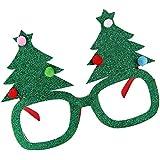 Lovoski 鹿角/蝶結び/クリスマスツリーデザイン 創意な メガネ 眼鏡 クリスマスパーティー カーニバル 大人 子供適用 ファンシー ドレス 全3デザイン - サンタ樹