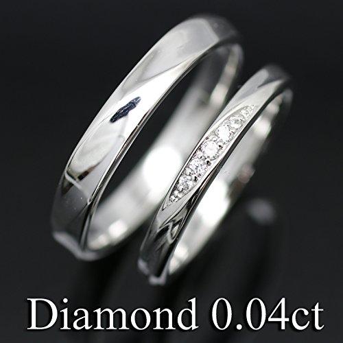 [ココカル]cococaru ペアリング シルバー ダイヤモンド リング Silver マリッジリング 2本セット 結婚指輪 日本製 天然 ダイヤ
