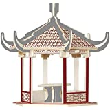 創造的なシミュレーション木製の組み立てモデル3d 木製の立体パズル子供のパズルおもちゃの建物モデル サイズ リトル六角パビリオン
