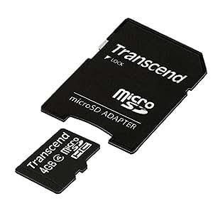 Transcend microSDHCカード 4GB Class4 (無期限保証) TS4GUSDHC4