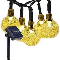 UPKEN ソーラー LEDイルミネーションライト 6m 30球 太陽能充電式 防水/省エネ LEDライト 夜間自動点灯 クリスマス電飾/室内飾り/室外装飾