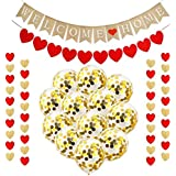Lnlofen Welcome Home Banner Balloons Decoration Kit, 16Pcs Welcome Back Party Sign Supplies, Including Welcome Home Banner, H