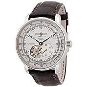 [ツェッペリン]ZEPPELIN 腕時計 100周年記念モデル アイボリー文字盤 自動巻 カーフ革ベルト 76621 メンズ 【正規輸入品】
