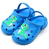 Namektch Toddler Little Kids Clogs Slippers Sandals, Non-Slip Girls Boys Unicorn Slide Lightweight Cartoon Garden Slip-on Shoes Beach Pool Shower Slippers